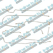 1939 Chevrolet All 112.3 Wb Models With Knee Action Drum Brake Line Set 7pc Oe