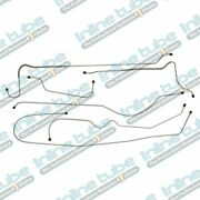 1949-50 Chevrolet Special Hardtop At/mt Drum Brake Line Set 6pc Stainless Steel