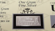 X25 Merry Christmas 2020 Acb 1gram Bar 999 Fine Silver W/certificate Great Gift