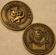Special Forces Scuba Diver Bronze Army Challenge Coin