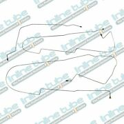 2000-05 Cadillac Deville Mid Chassis Center Brake Line Kit W/ Abs 5pc Tubes Ss