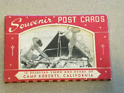 Complete Set Of 10 Camp Roberts California Ww2 Wwii Era Army Military Postcards