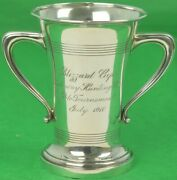 Sterling Silver Blizzard Cups Rockaway Hunting Club Polo Tournament July 1910