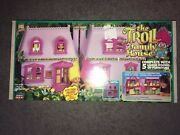 Vintage The Troll Family House Playset Toy Street 1992 In Box. Very Rare.