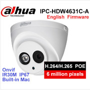 Ipc-hdw4631c-a Hd 6mp Poe Built-in Mic Ir Dome Network Security Ip Camera