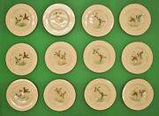 Set Of 12 Pickard China Gamebird Plates For Abercrombie And Fitch