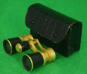 Abercrombie And Fitch French Opera Binoculars In Croc Case
