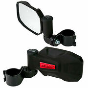 Seizmik Strike Side View Breakaway Mirrors Pair Red Inserts 1.875-2.0 Roll Cage