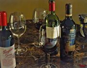 Thomas Arvid Well Travelledandrdquo Wine Art Signed And Numbered On Canvas 41w X 32h