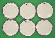 Set Of 6 Beverly Yacht Club Of Marion Ma Dinner Service Plates