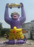 25ft7.6m Advertising Giant Inflatable Gorilla Automobile Promotion With Blower