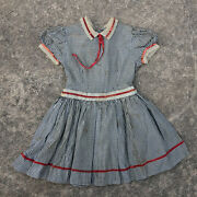 Antique 1800and039s Childs Kids Doll Dress Creepy Haunted Scary Halloween Textile Vtg