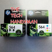 5-pack Hp Genuine 564 Black And Color Ink Retail Box Photosmart C6340 D5460
