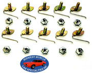 Gm 1/2-5/8 Body Fender Door Quarter Trim Moulding Molding Clips And Nuts 50pc F