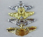 Wwii A Set 4pcs Us Usmc Usaf Officer Air Force Aviator Wings Badge Pin Insignia