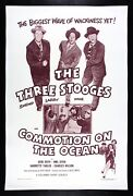 Commotion On The Ocean ✯ Three 3 Stooges Vintage Movie Poster 1956 Rare Comedy