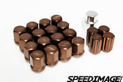 Work Wheels Rs 12x1.5 Thread Pitch Bronze Duraluminum Forged Lug Nuts Racing