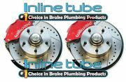 64-74 Gm Wilwood Rd Front Disc Brake Conversion Kit Cross Drilled Slotted Rotors