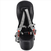 Black Carbon Fiber Bump Seat And Silver 4-point Harness