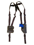 New Barsony Brown Leather Shoulder Holster Mag Pouch Kahr Beretta Ultra Comp 9mm