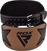 Rdx Weight Lifting Belt Gym Leather Fitness Support Power Workout Bodybuilding