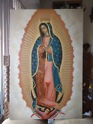 Our Lady Of Guadalupe Virgen De Guadalupe Oil Painting Canvas Colonial Art Sold