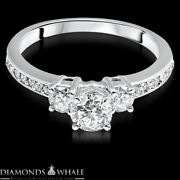 Round Cut 1.48 Ct Enhanced Diamond Wedding Ring Si1/d 14k Gold Solitaire Ring