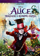 Disney Live Action Sequel Alice In Wonderland 2 Through The Looking Glass On Dvd