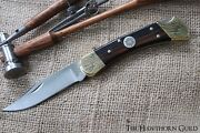 Vietnam War Buck 110 Pocket Knife - Hand Engraved With Inlay - Deluxe Edition