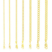 10k Yellow Gold 2mm-11mm Curb Cuban Chain Link Pendant Necklace Bracelet 7-30