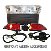 12 Club Car Precedent Golf Cart Deluxe Head Light And Tail Light Kits Elec. '08-up