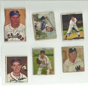 Vintage Autographed Lot Of 1950's Bowman Baseball Cards