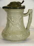Antique Minton Society Of Arts Prize Jug 1846 W/ Pewter Lid