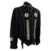 Western Style Genuine Suede Leather Jacket Fringed 60-80 Off Sale