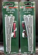 Lot Of 2 - N Scale Kato Unitrack 20-202 And 20-203 Lt And Rt 6 Turnouts New In Pack