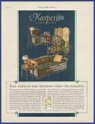 Vintage 1926 Karpen Furniture Chair Couch Upholstered Print Ad 20and039s