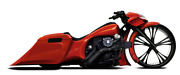 Harley Davidson High Caliber Stretched Rear End 2014-present Saddlebags And Rear