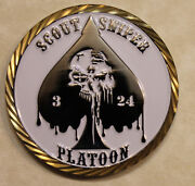 Scout Sniper 24th Marines 3rd Battalion Platoon Marine Corps Challenge Coin
