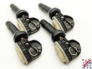 Complete Set Of 4 Ford Snap-in Tpms Tire Pressure Sensors And Stems 9l3z-1a189-a