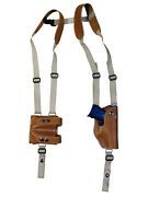New Tan Leather Vertical Shoulder Holster W/ Dbl Mag Pouch Colt Kimber Compact