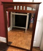 """Ethan Allen American Impressions Large Beveled Wall Mirror 46x30"""""""