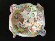 Large Harris-Cies Studio Abstract Modern Art Pottery Wall Plate           *3120