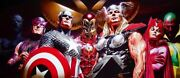 Captain America Iron Man Wasp Thor Scarlet Witch Vision Marvel Avengers Fine Art
