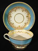 Rare Antique Set 4 Derby Porcelain Hand Painted Coffee Cups And Saucers 1782-1810