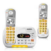 Uniden D3097-2 Cordless Amplified Phone W/ Audio Boost And 1 Additional Handset