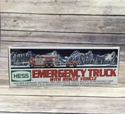 Hess 2005 Toy Emergency Fire Truck With Rescue Vehicle Sounds Lights Advertising