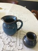 Rackliffe Art Pottery Pitcher Blue Hill Maine PITCHER Jug and small vase.