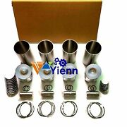 For Mitsubishi 4d32 Engine Overhaul Rebuild Kit With Water Pump Valve Guides