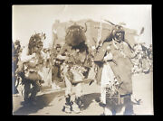 Large Photo Zuni Buffalo Dance Signed By Southwest Indian Trader Pat Read 1930