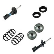 For Saab 9-3 03-07 Struts Sachs Kit With Lesjofors Coil Springs + Meyle Mounts